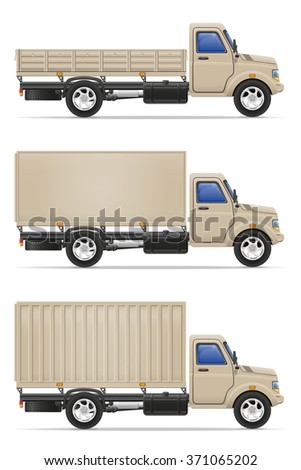 cargo truck for transportation of goods vector illustration isolated on white background - stock vector