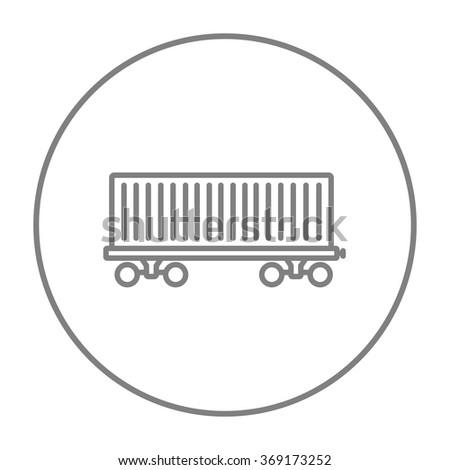 Cargo wagon line icon. - stock vector