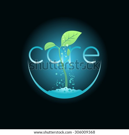 Caring Seedlings Illustration Agriculture Company Environment Stock