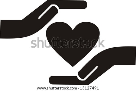 Caring hands - stock vector
