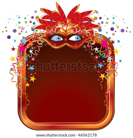 Carnival frame for your text - stock vector