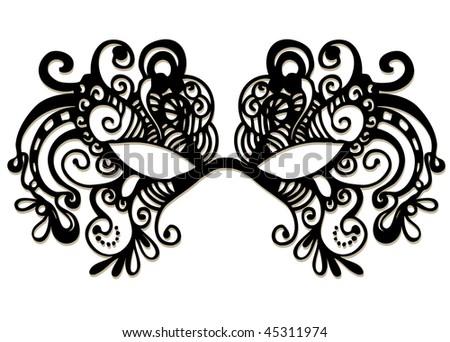 carnival mask - stock vector