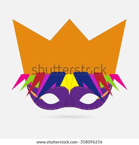 Carnival masks s crown. - stock vector