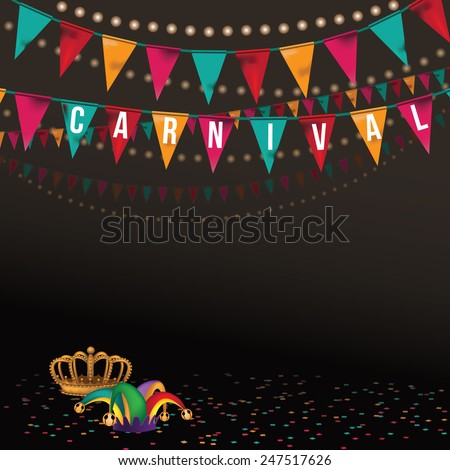 Carnival party bunting background EPS 10 vector royalty free stock illustration Perfect for ads, poster, flier, signage, promotion, greeting card, blog, invitation - stock vector