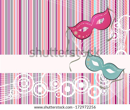 Carnival party - vector - stock vector