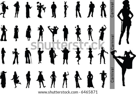 Carnival. Vector silhouettes for your design. Part 1.