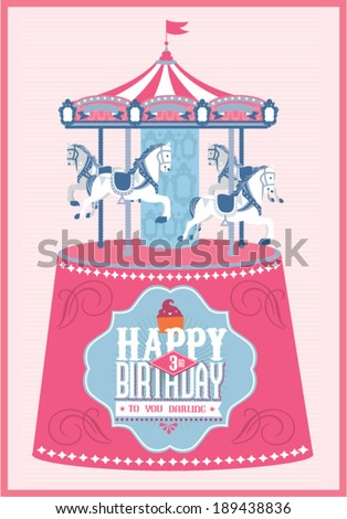 merry go round horse template - carousel stock photos royalty free images vectors