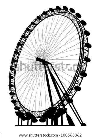 Carousel Silhouette Vector 19 - stock vector