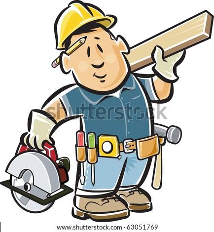 carpenter - stock vector