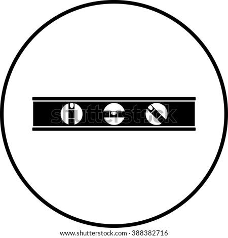 carpenter level symbol - stock vector