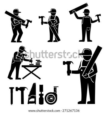 Carpenter.vector - stock vector