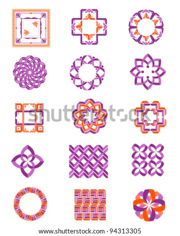 Carpet Border Frame Pattern - stock vector