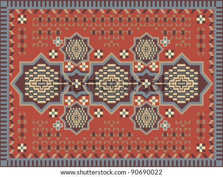 Carpet design - stock vector