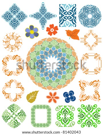 carpet rugs frame border - stock vector