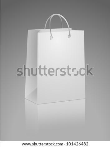 Carrier Paper Bag White - stock vector