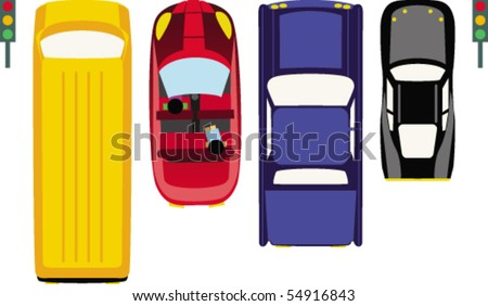Cars - stock vector