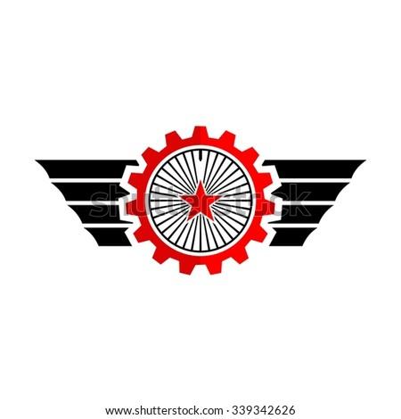 Cars Auto, Gears, Wheels Symbol Logo Design Template - stock vector