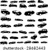 cars collection - vector - stock