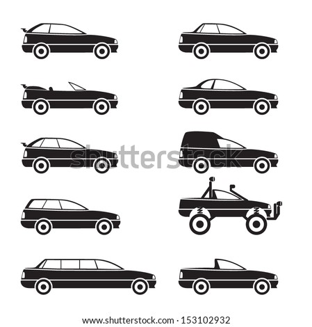 Cars Icons Set. Types of Body