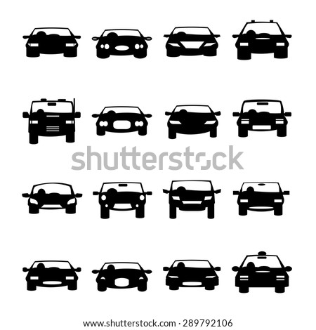Cars icons vector - stock vector