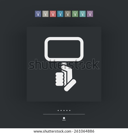 Cartel holding icon - stock vector