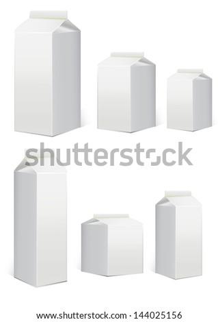 Carton packaging templates - stock vector