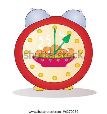 Cartoon alarm clock vector - stock vector