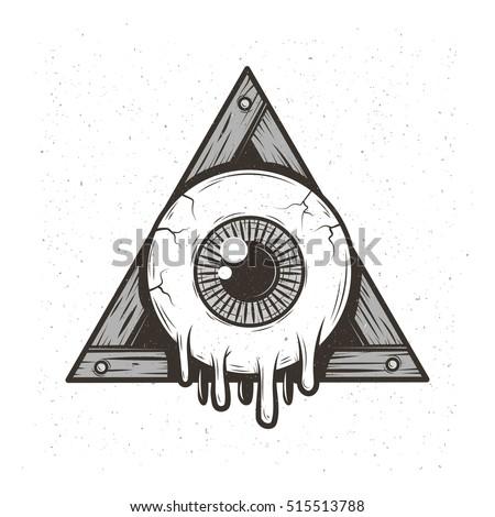 cartoon allseeing eye stock vector 515513788 shutterstock