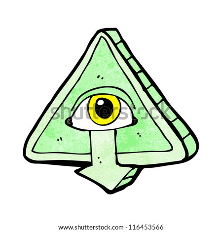 cartoon all seeing eye cartoon