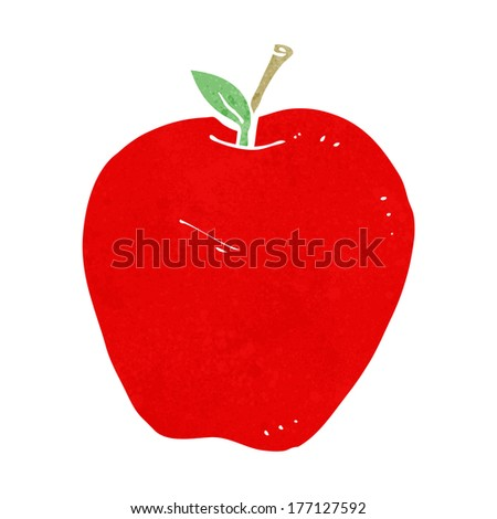 cartoon apple - stock vector