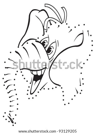 cartoon art of a republican elephant connect the dots.