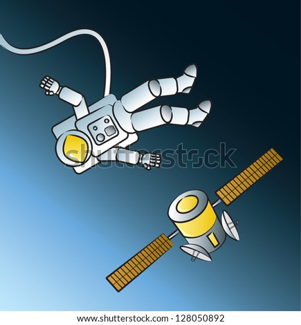 astronaut floating in space cartoon - photo #30