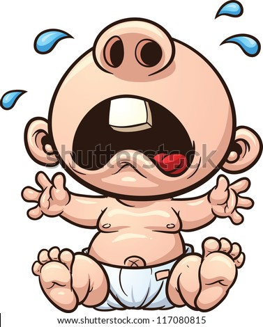 Cartoon Baby Crying Vector Clip Art Stock Vector 117080815 ...