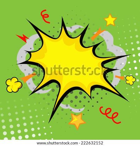 cartoon bang (cartoon - boom, comic book explosion) - stock vector