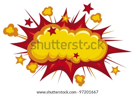 cartoon bang (cartoon - boom, comic book explosion) - stock vector