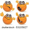 Cartoon basketball fan vector - stock