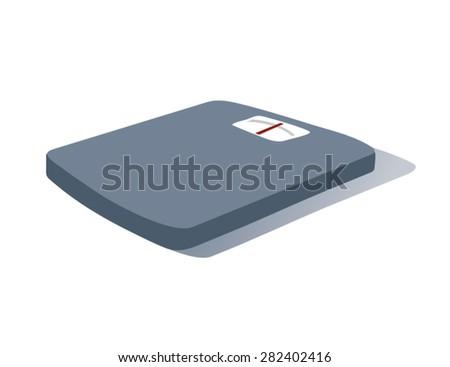 Cartoon Bathroom Scales - stock vector