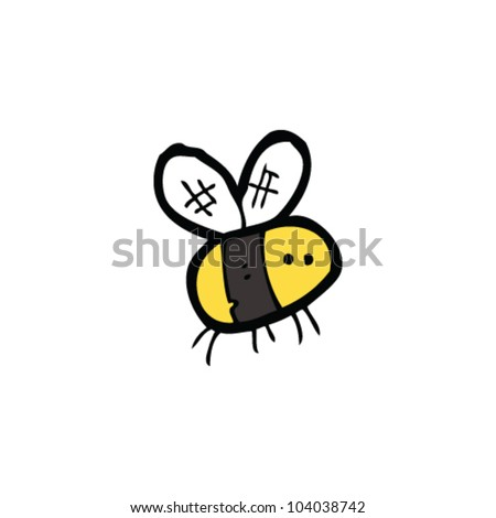 cartoon bee - stock vector
