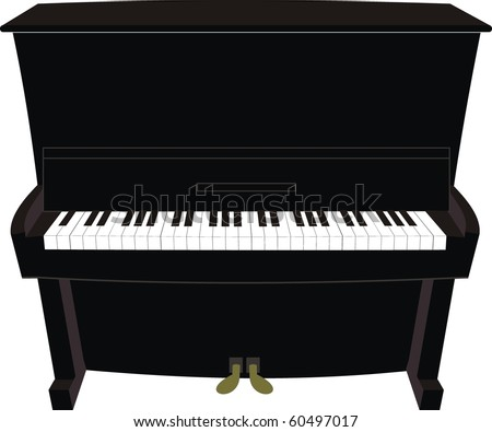 Cartoon black piano