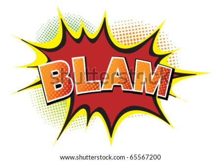 Cartoon-blam. Vector - stock vector