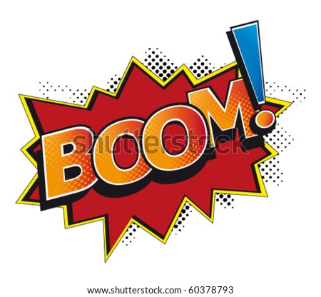 cartoon-boom - stock vector