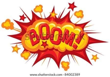 cartoon - boom (Comic book explosion) - stock vector