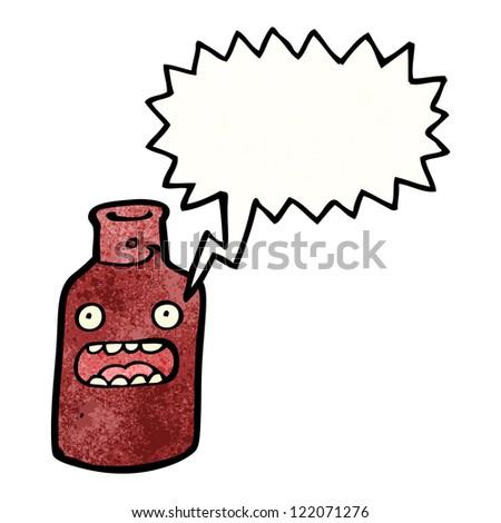 cartoon bottle - stock vector