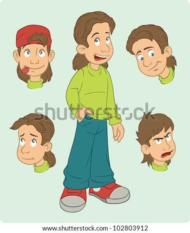 cartoon boy - stock vector