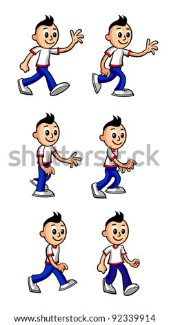 Cartoon Boy Walking