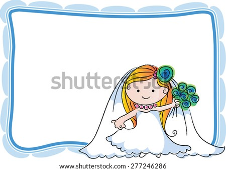 cartoon bride