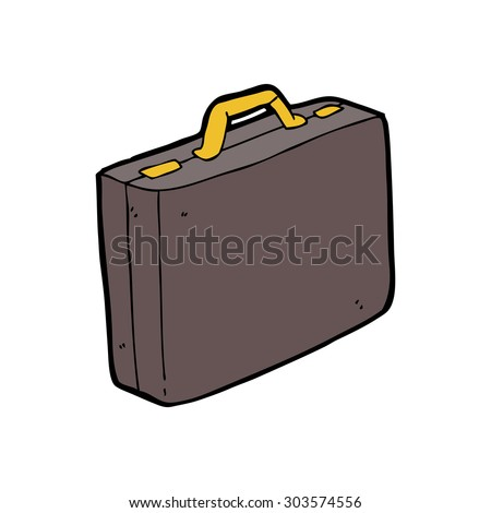 cartoon briefcase - stock vector