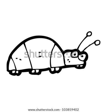 Cartoon bug stock vector