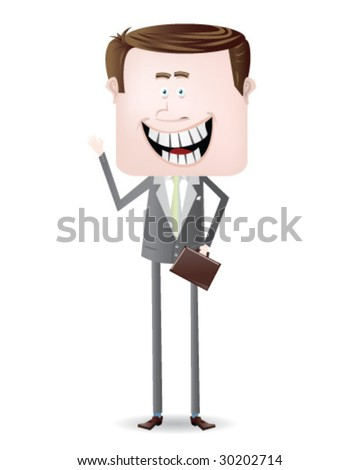Cartoon Business Man - Vector Illustration - stock vector