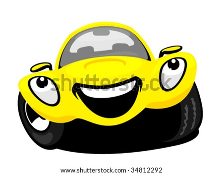 Cartoon car - stock vector